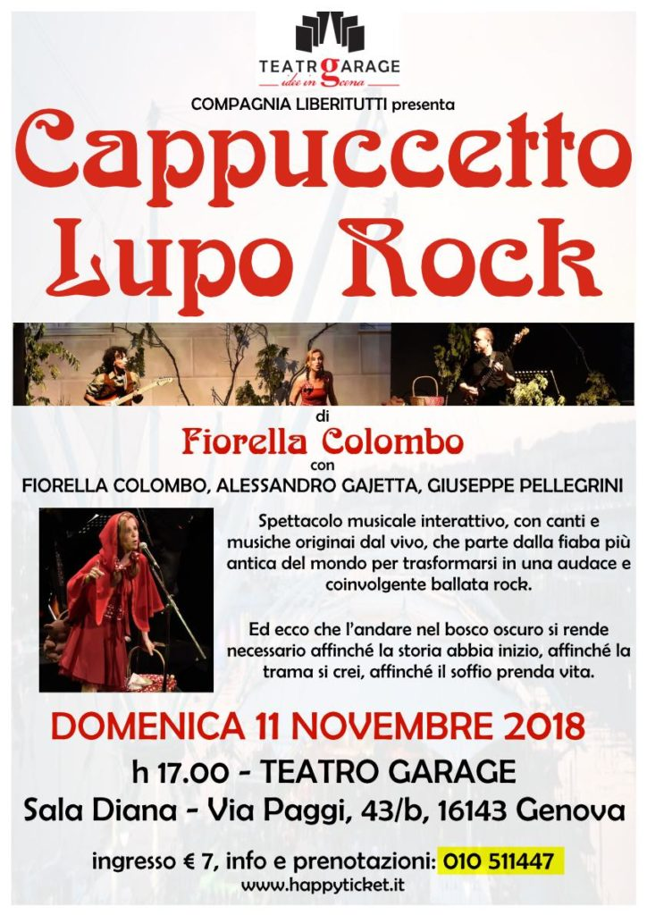Cappuccetto Lupo Rock al Teatro Garage
